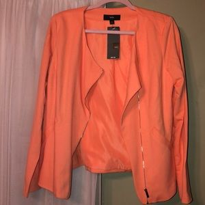 Brand new with tags cotton stretch moto blazer